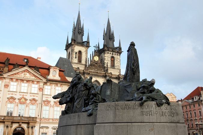 Jan Hus statue, Prague Old Town Square, Prague, Czech Republic