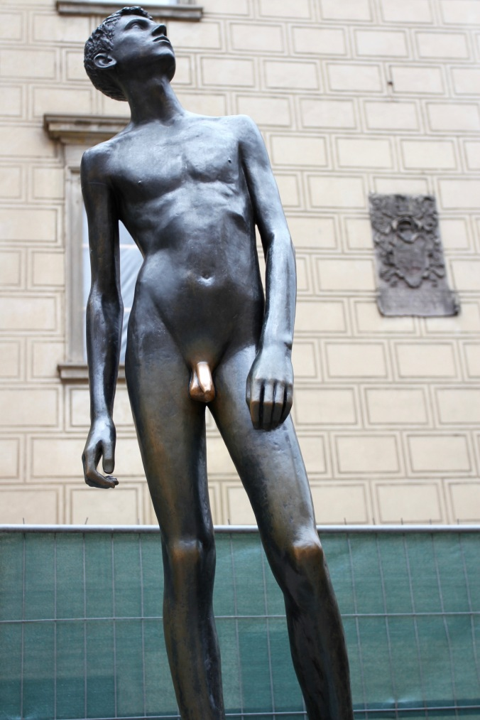 Statue with the golden penis, Prague Castle, Czech Republic