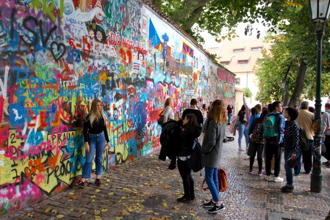 John Lennon Wall, Mala Strana. Prague, Czech Republic