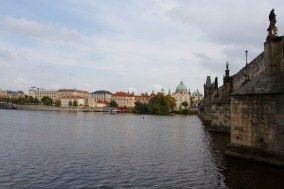 Charles Bridge from Mala Strana, Prague, Czech Republic