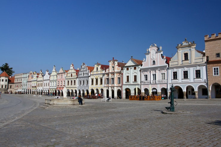 Zacharias of Hradec square, Telc, Czech Republic