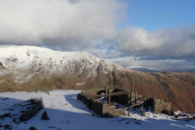 Mine works, Old Man of Coniston, Lake District, Cumbria, England