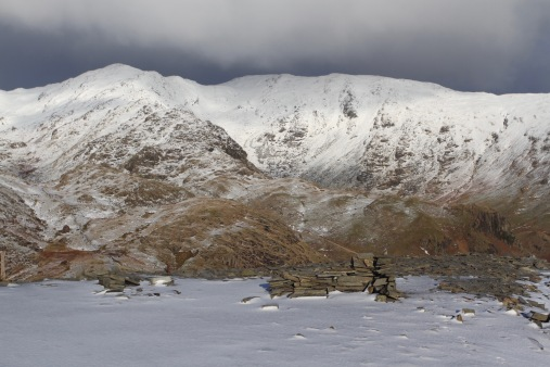 Lake District from Old Man of Coniston, Cumbria, England