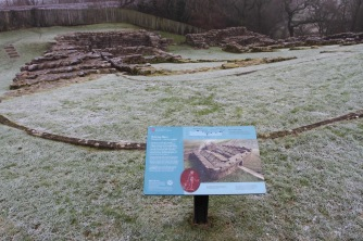 Roman Fort at Poltross Burn, Hadrian's Wall, Northumberland, England