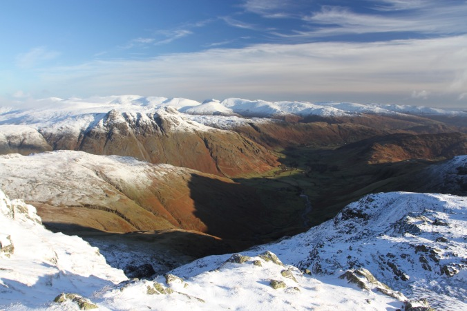 Great Langdale Valley from Crinkle Crags, Cumbria, England
