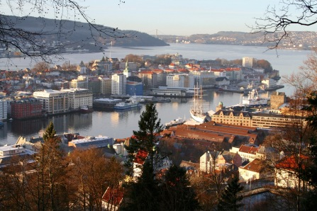 Views over Bergen from Fløyen, Bergen, Norway