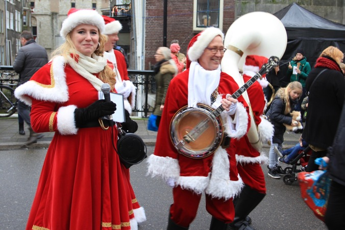 Musical Santas at Dordrecht Xmas Market, Netherlands