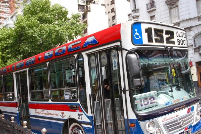 Bus to La Boca, Buenos Aires, Argentina