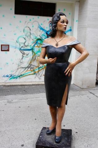 Tita Merello statue, Abasto, Buenos Aires, Argentina