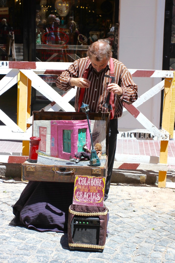 Street entertainer, San Telmo, Buenos Aires, Argentina