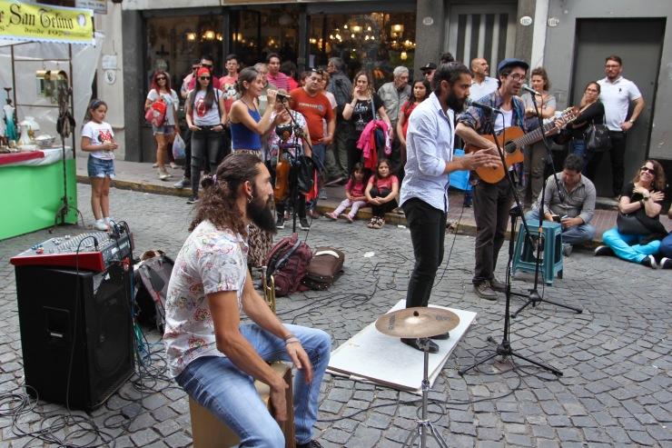 Street music, San Telmo, Buenos Aires, Argentina