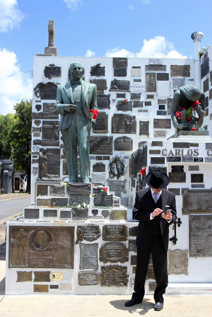Grave of Carlos Gardel, Chacarita Cemetery, Buenos Aires, Argentina