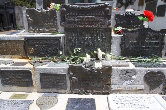 Memorials to Carlos Gardel, Chacarita Cemetery, Buenos Aires, Argentina