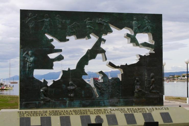 Falklands / Malvinas memorial, Ushuaia, Tierra del Fuego, Argentina