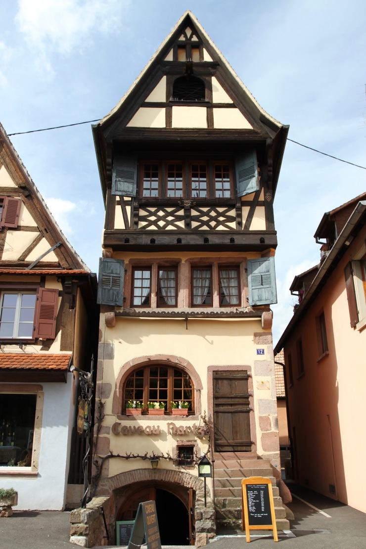 Dambach-la-Ville, Alsace wine route, France