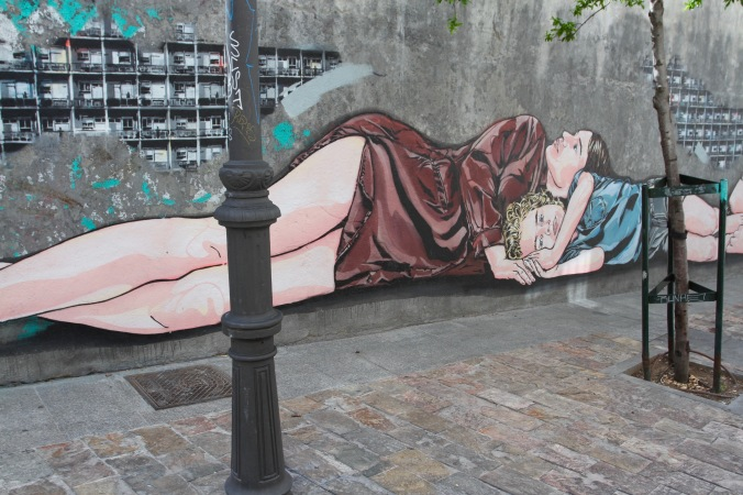 Street art, La Latina, Madrid, Spain