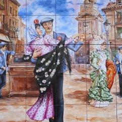 Bar tiles, La Latina, Madrid, Spain