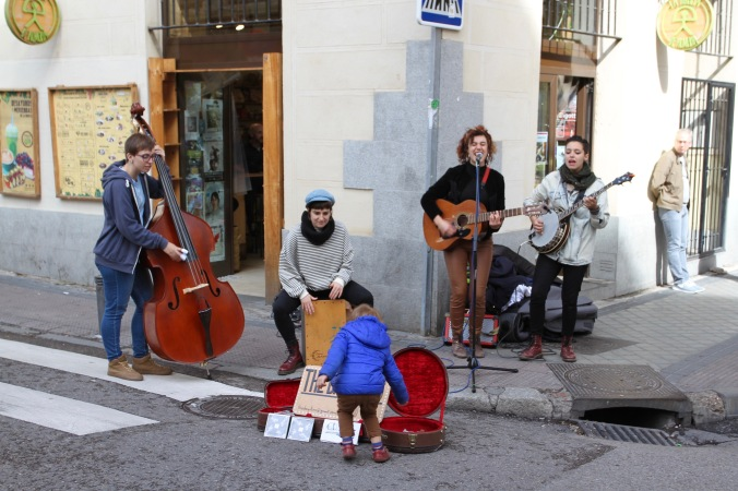 Musicians in the Rastro, Madrid, Spain