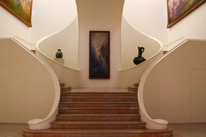 Art Nouveau stairway, Musée de Beaux Arts, Nancy, France