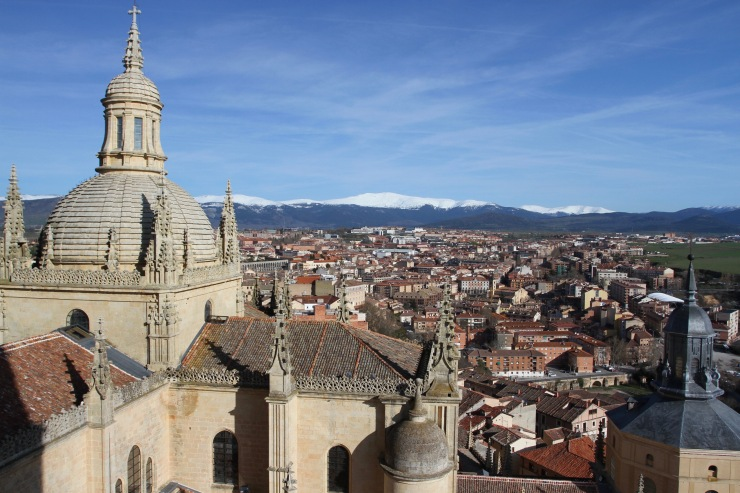View from the cathedral, Segovia, Spain
