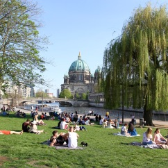 Sunny day in the park, Berlin, Germany
