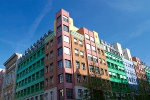 Housing in former East Berlin, Germany