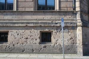 War-scarred building, Berlin, Germany