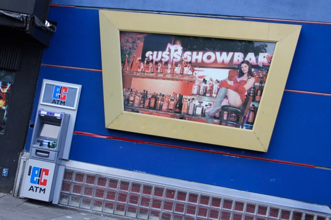 ATM and sex in the Reeperbahn, Hamburg, Germany