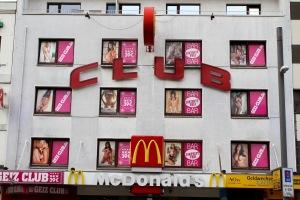 McDonalds keeping good company in the Reeperbahn, Hamburg, Germany
