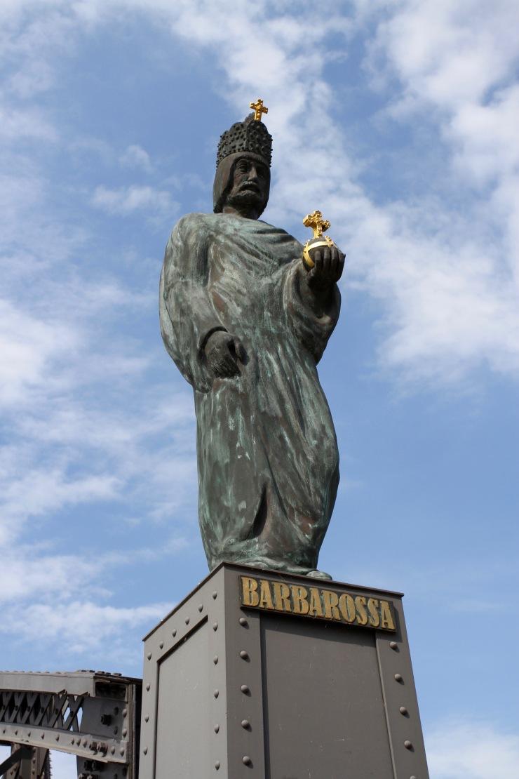 Statue of Barbarossa, Speicherstadt, Hamburg, Germany