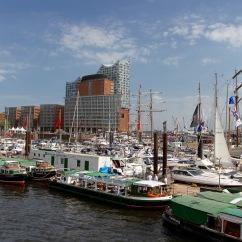 Hamburg harbour and Elbphilharmonie, Speicherstadt, Germany