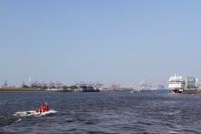 River Elbe, Port of Hamburg, Germany