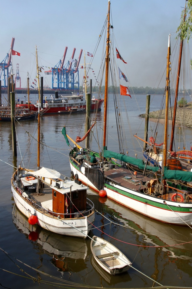 Neumühlen harbour, Hamburg, Germany