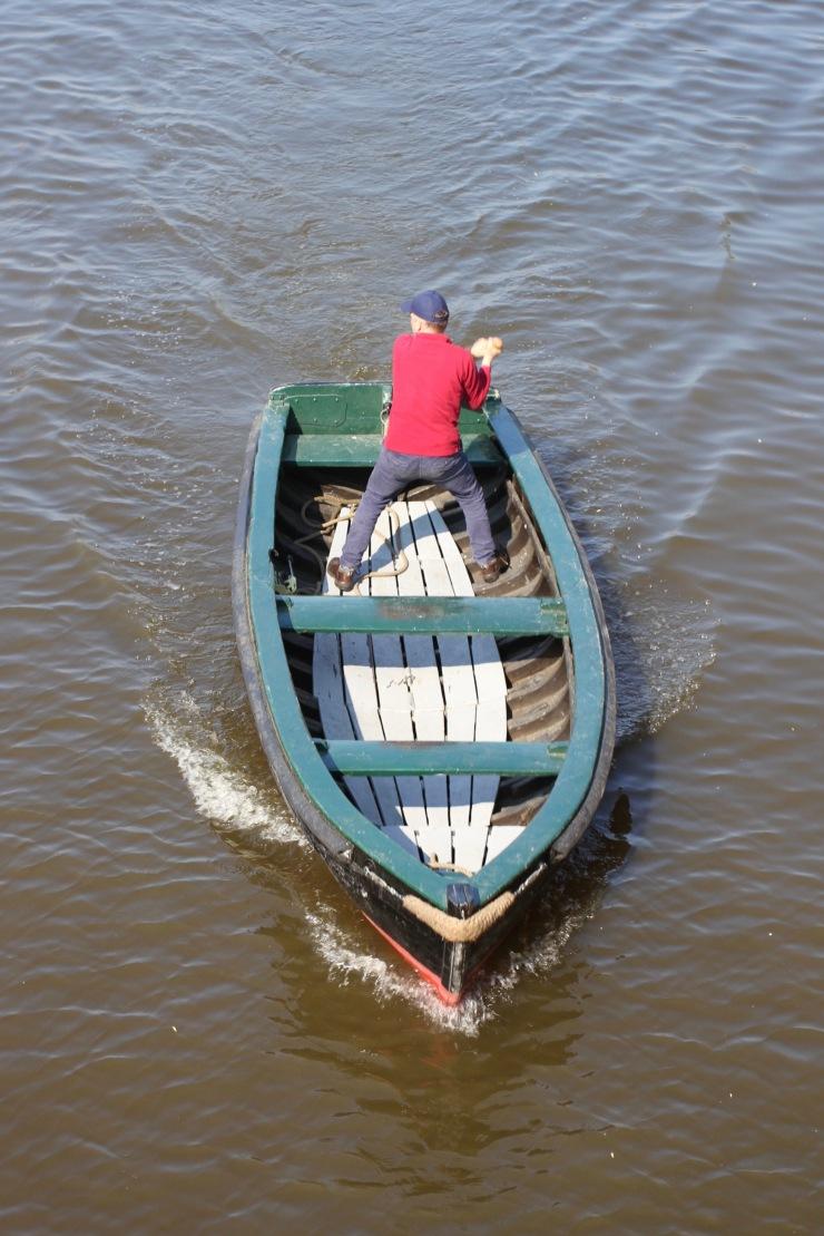 Boat racing, Neumühlen harbour, Hamburg, Germany
