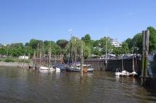 Neumühlen harbour, Hamburg, Germany