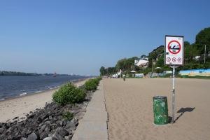Beaches on the River Elbe, Neumühlen, Hamburg, Germany