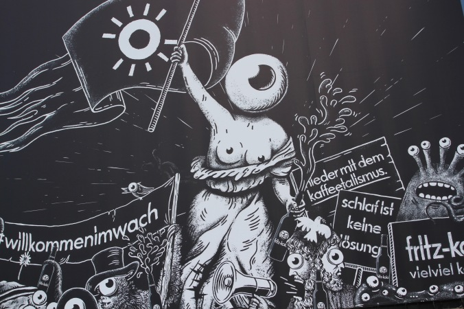 Fittz Kola street art, Hamburg, Germany