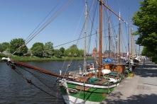 Boats on the Trave, Lübeck, Germany