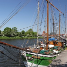 Boats on the Trave, Lübeck, Germany