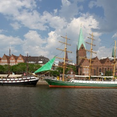 Along the River Weser, Bremen, Germany