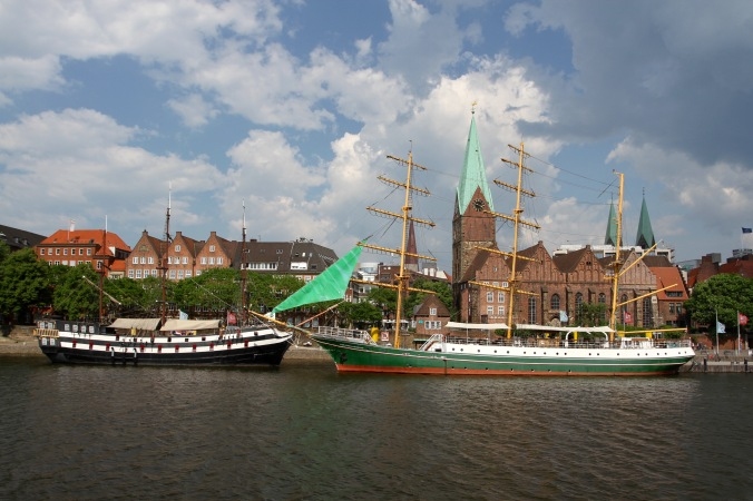 Along the River Weser, Bremen, Germany