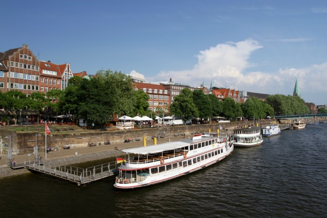 Schlachte Embankment, Bremen, Germany