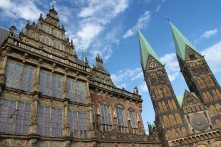 Gothic Town Hall and Cathedral of Saint Peter, Altstadt, Bremen, Germany