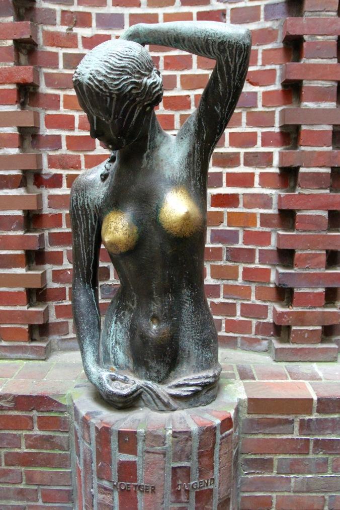 Degenerate art? Böttcherstrasse, Altstadt, Bremen, Germany