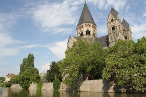 Temple Neuf, Moselle River, Metz, France