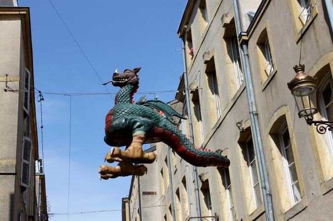There be dragons, the Graoully, Metz, France