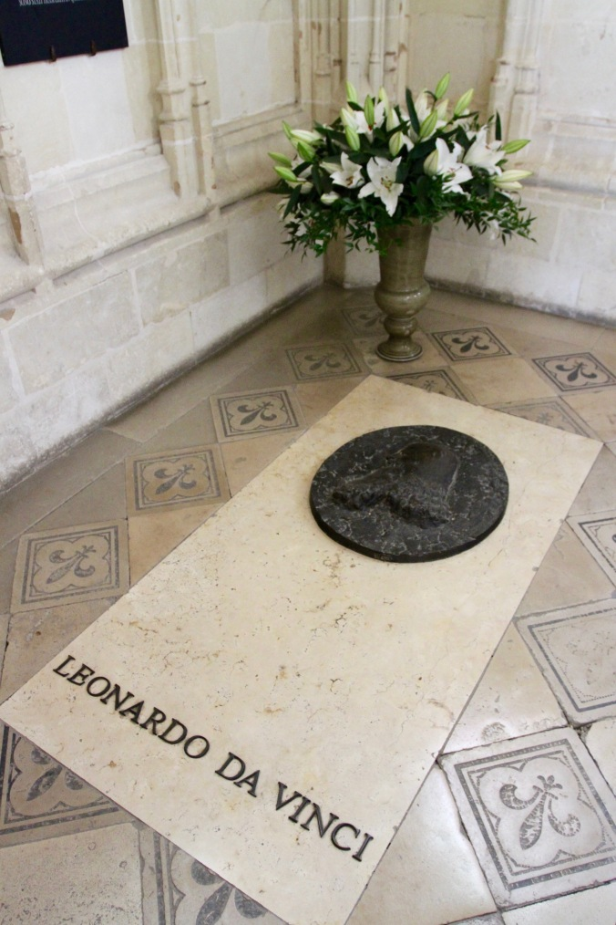 Tomb of Leonardo da Vinci, Château d'Amboise, Loire Valley, France