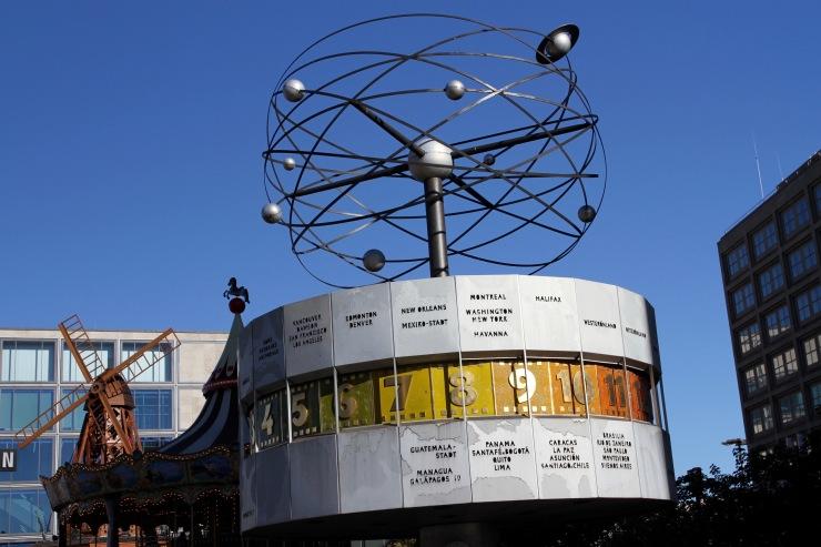 World Time Clock, Alexanderplatz, Berlin, Germany