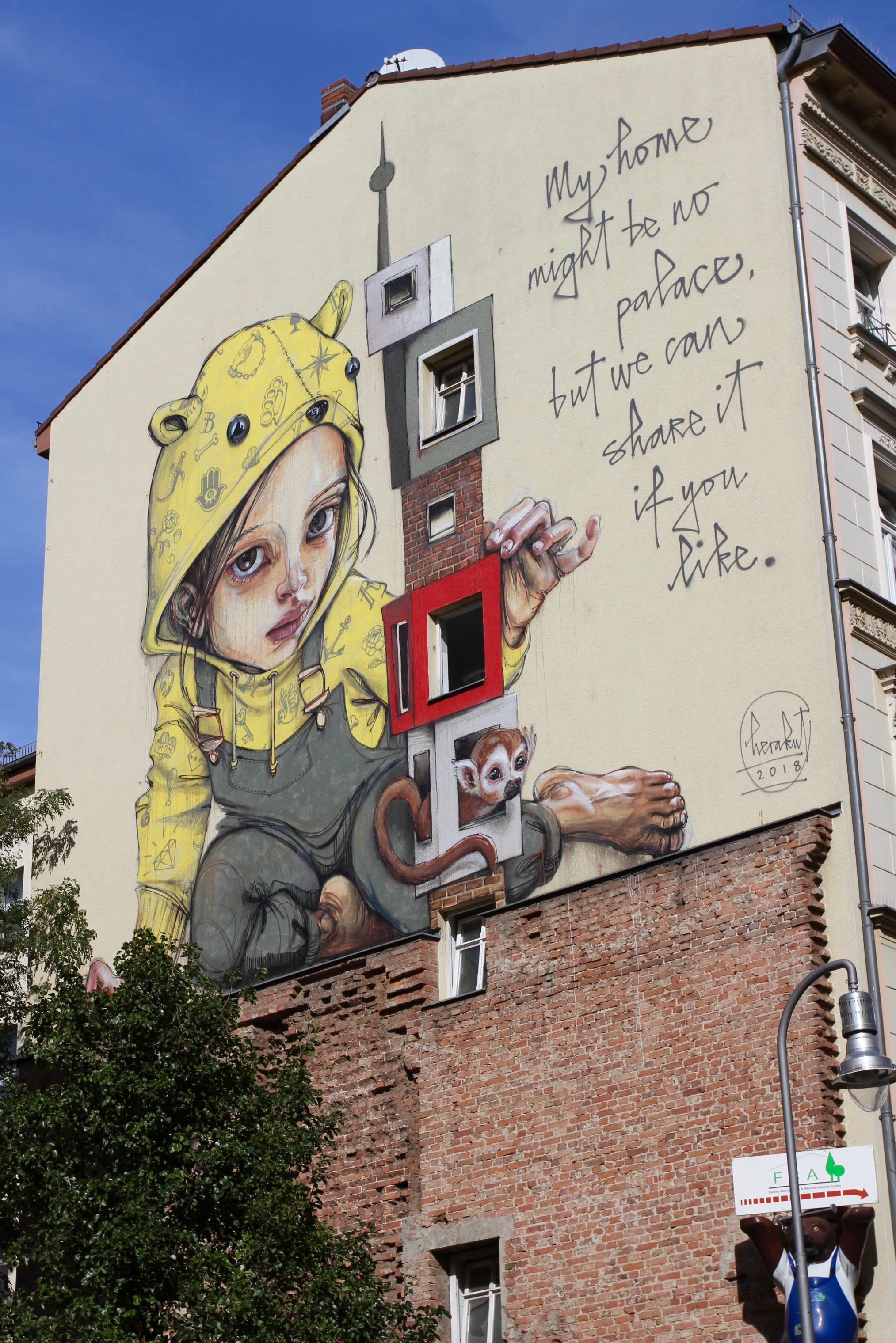 My home might be no palace, Street Art, Berlin, Germany