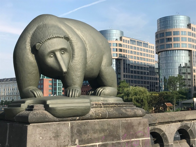 Bear on a bridge, Moabit, Berlin